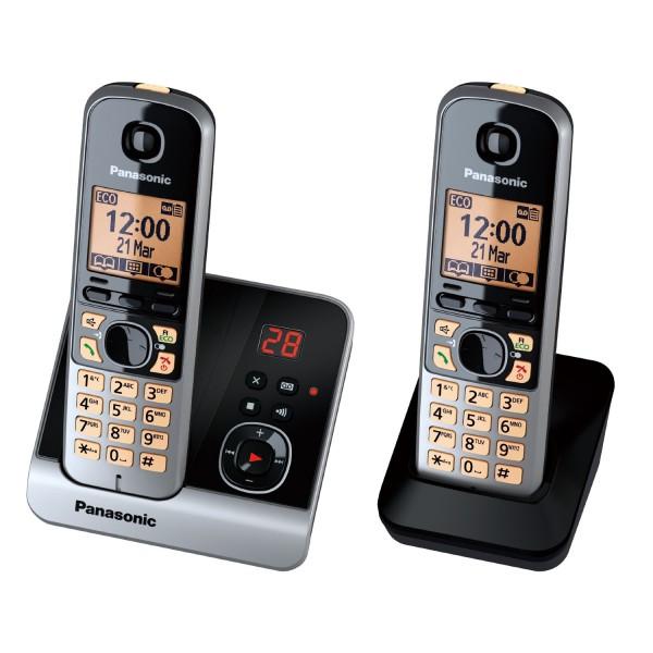 PANASONIC-KX-TG6722GB-Duo-Schnurlostelefon-TOP-ZUSTAND-HANDLER